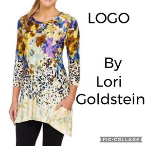 LOGO Floral Leopard Tunic